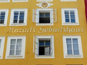 Mozart's birth house in Salzburg